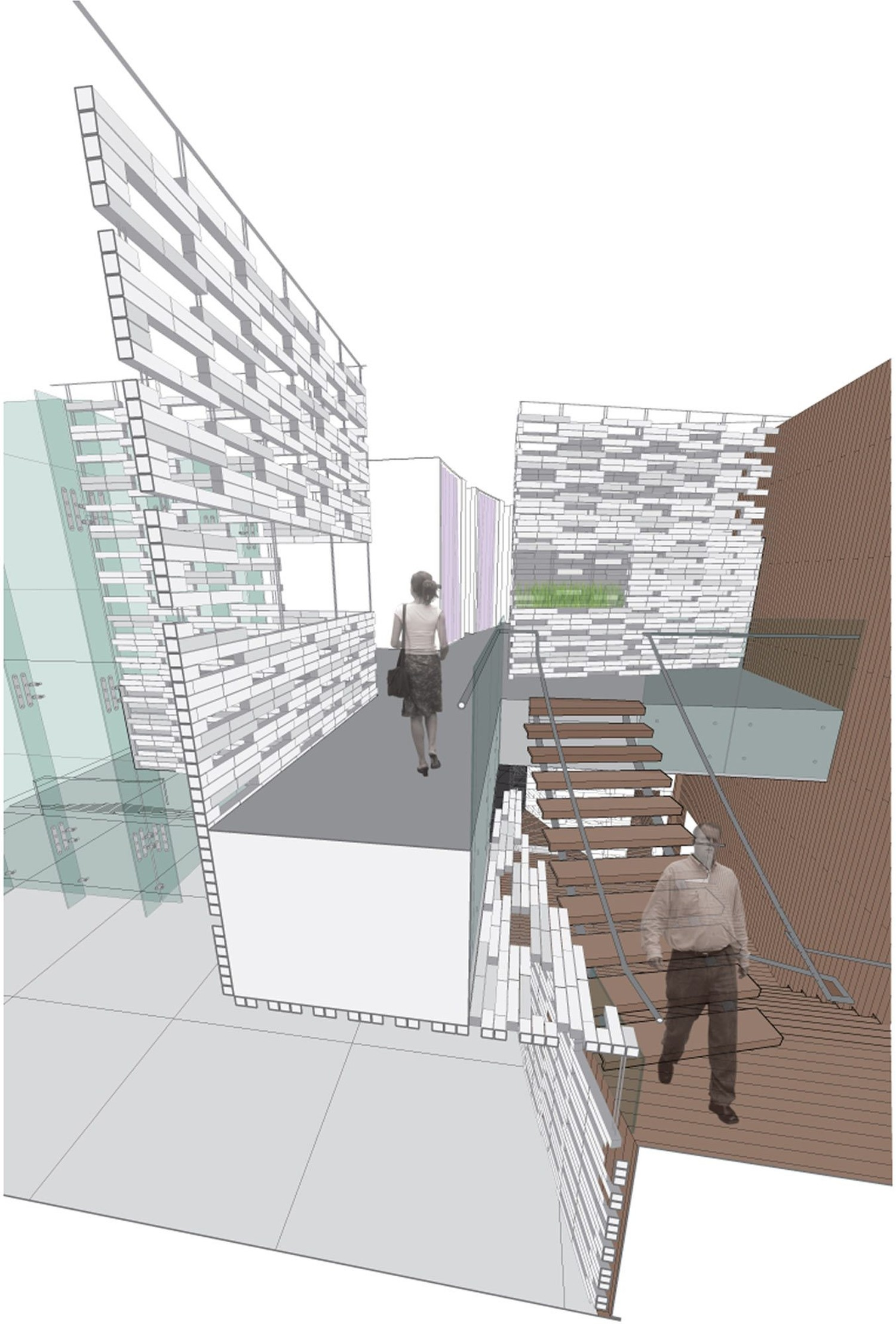 Stair Section Perspective
